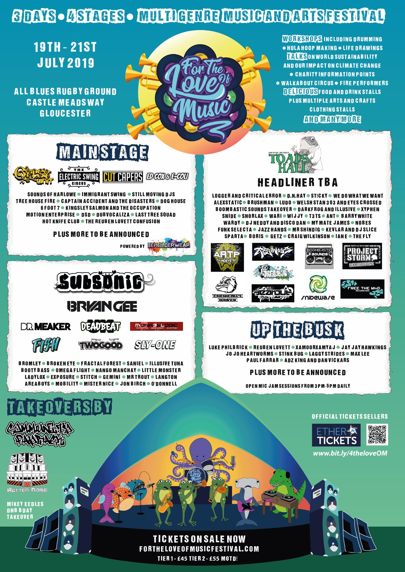 Event Poster For For the Love of Music Festival 2019