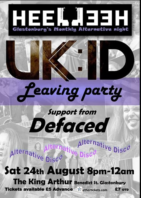 Event Poster For Heel Heel [5] with UK:ID [Leaving Party] and Defaced