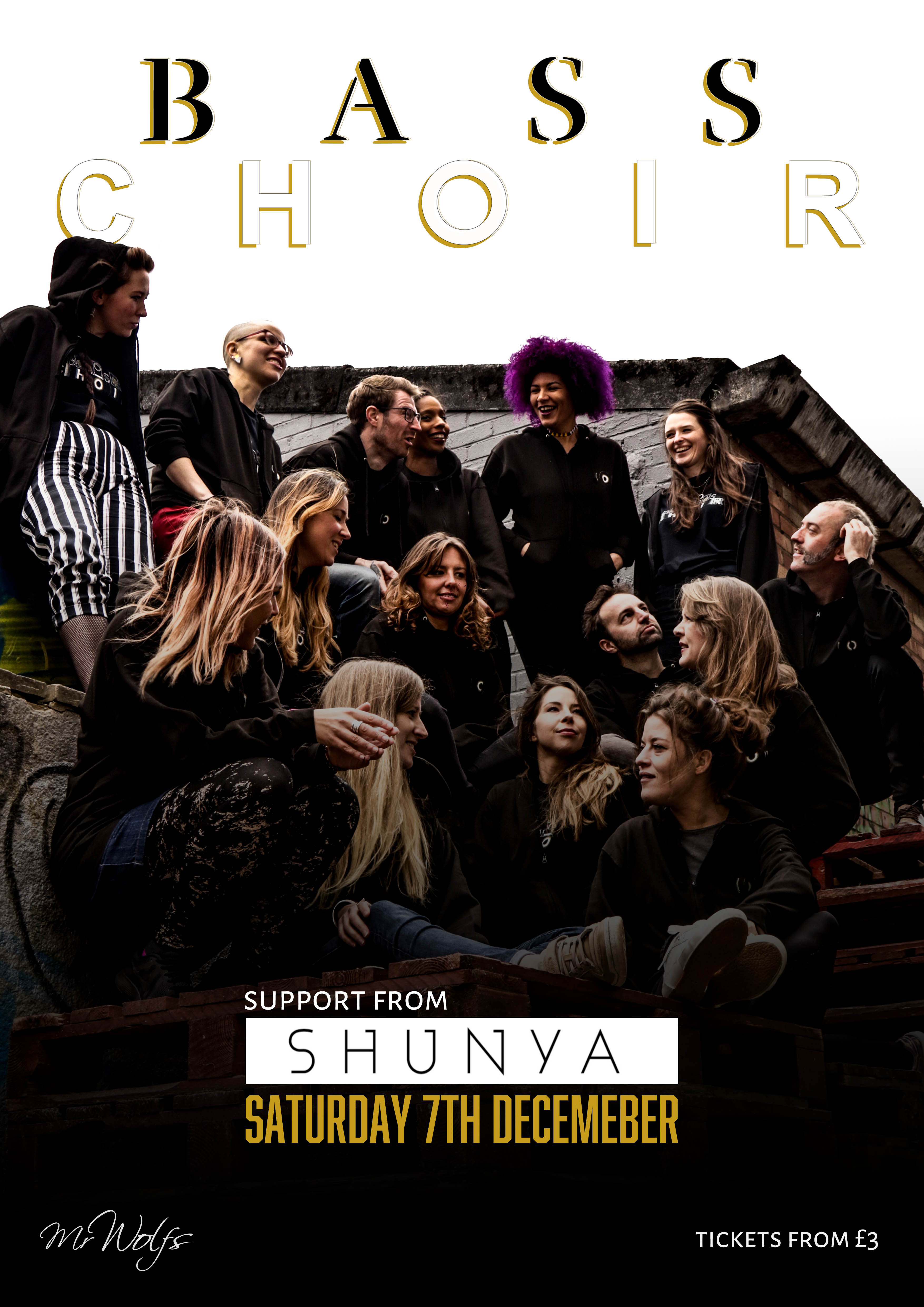 Event Poster For BASS CHOIR w/support Shunya