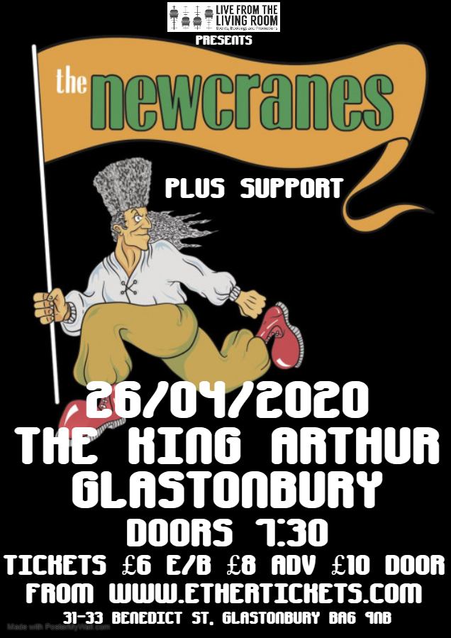 Event Poster For The Newcranes plus support