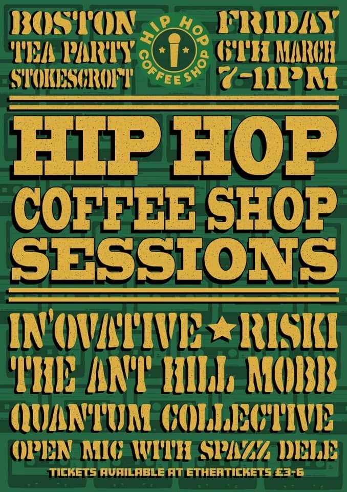 Event Poster For Hip Hop Coffee Shop Sessions #11