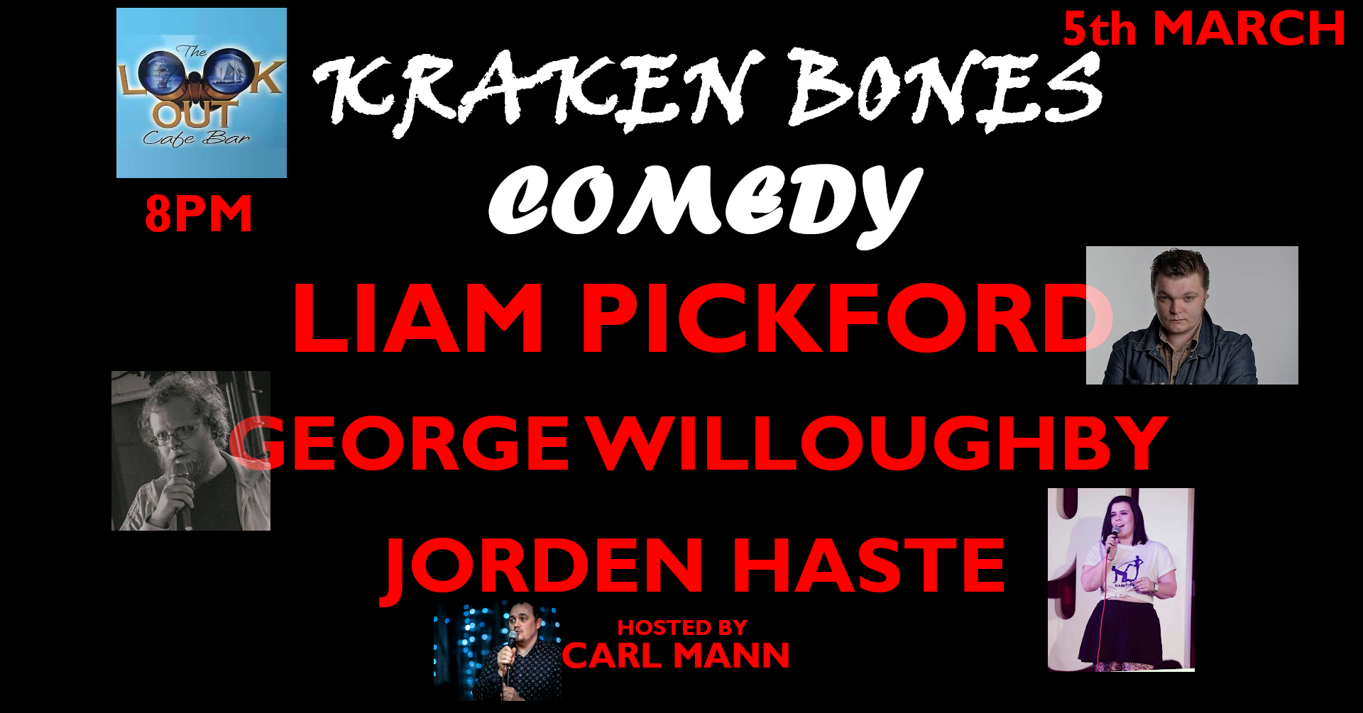 Event Poster For Kraken Bones Comedy II