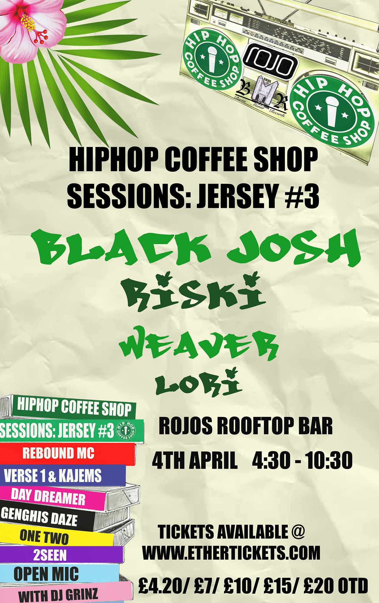 Event Poster For Hip Hop Coffee Shop Sessions: Jersey #3