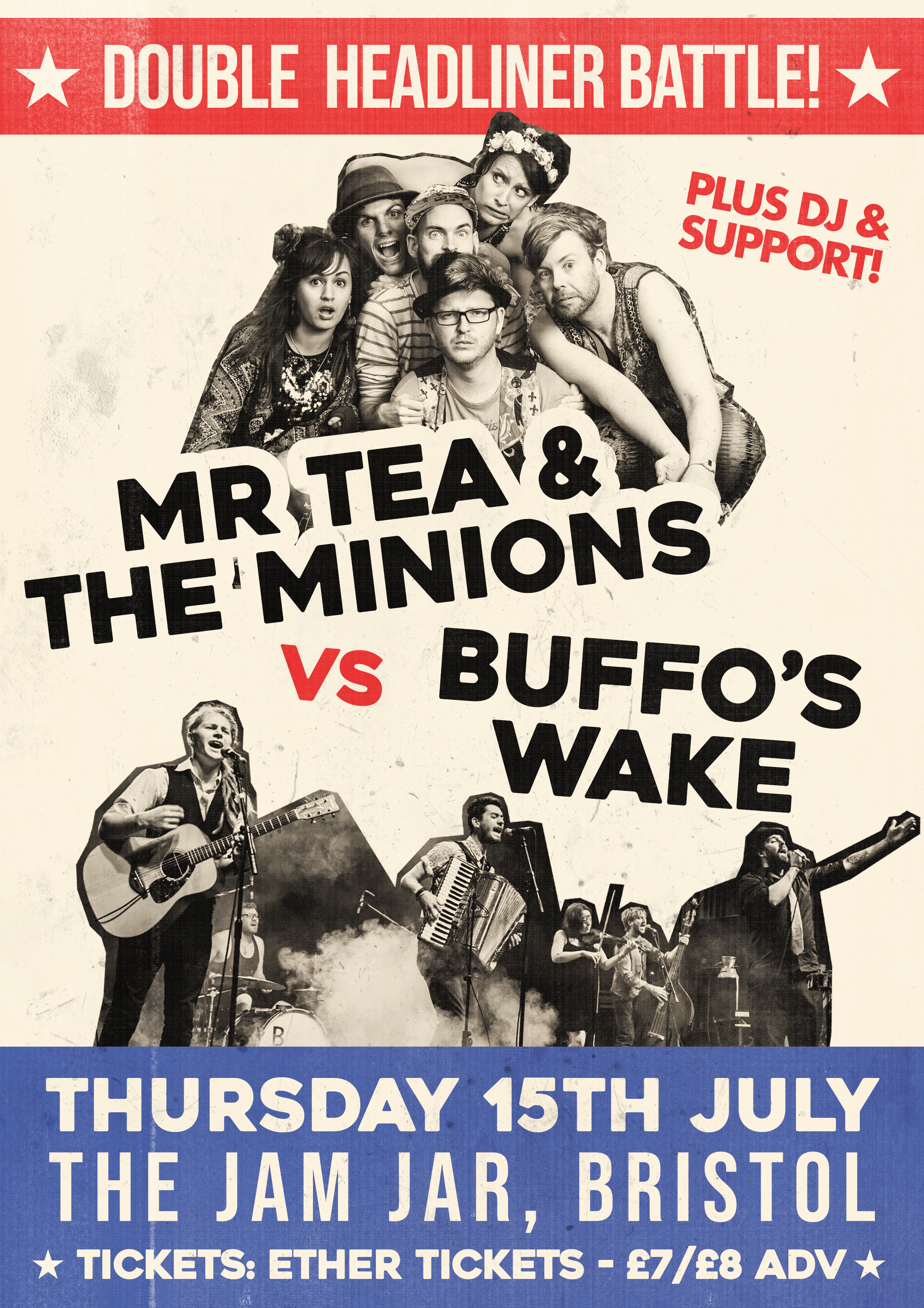 Event Poster For Mr Tea & The Minions Vs Buffos Wake