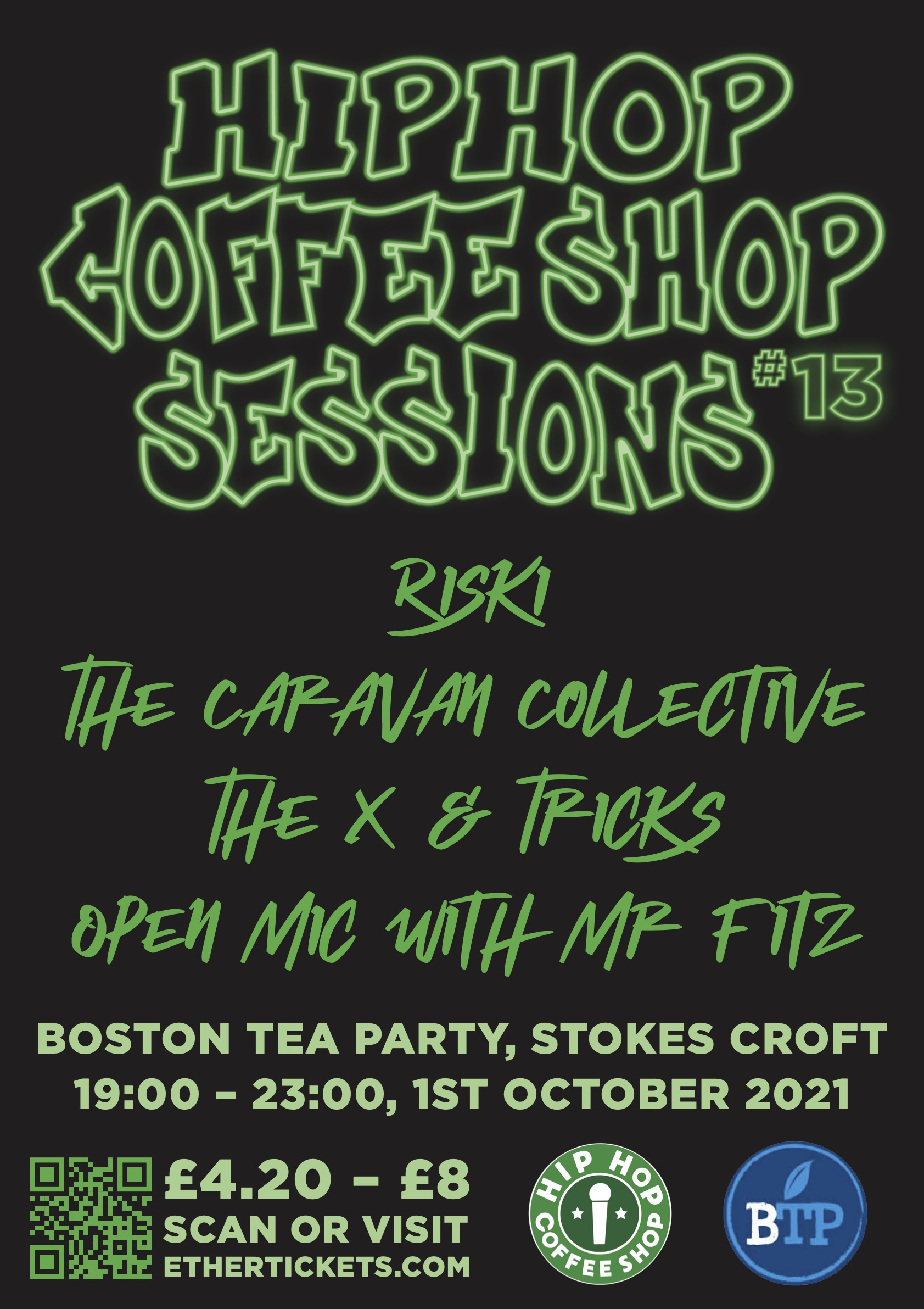 Event Poster For Hip Hop Coffee Shop Sessions #13
