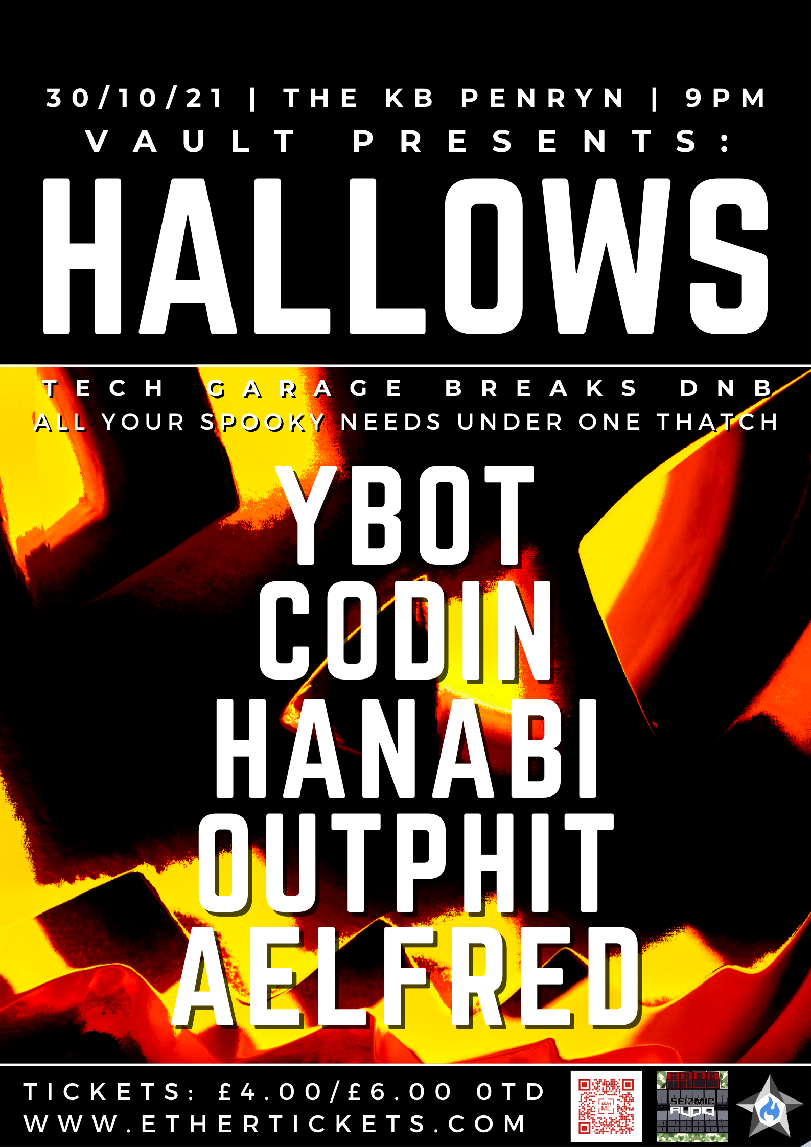 Event Poster For VAULT: HALLOWS EVE